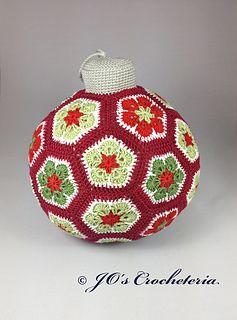 African Flowe Christmas ornament decoration...jumbo! FREE PDF 11/14.