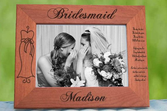 Bridesmaid Frames Personalized Gifts Custom by UrbanFarmhouseTampa