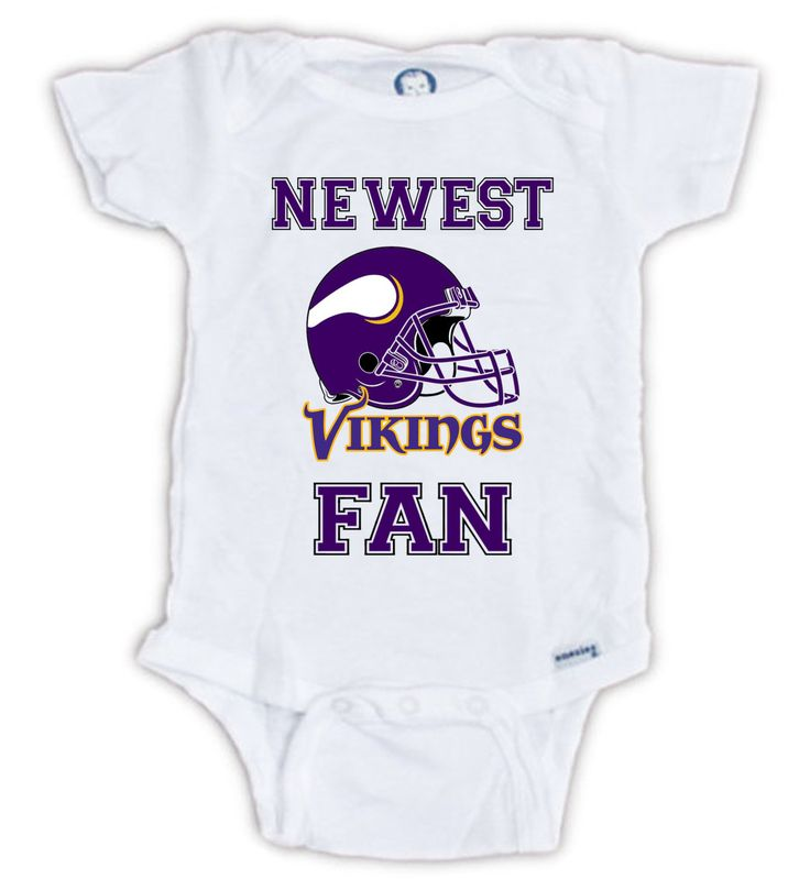 Minnesota VIKINGS FAN Baby Onesie, Vikings Baby Bodysuit, Vikings Football Onesie, Baby Shower Gift, Vikings onesie, Baby Announcement