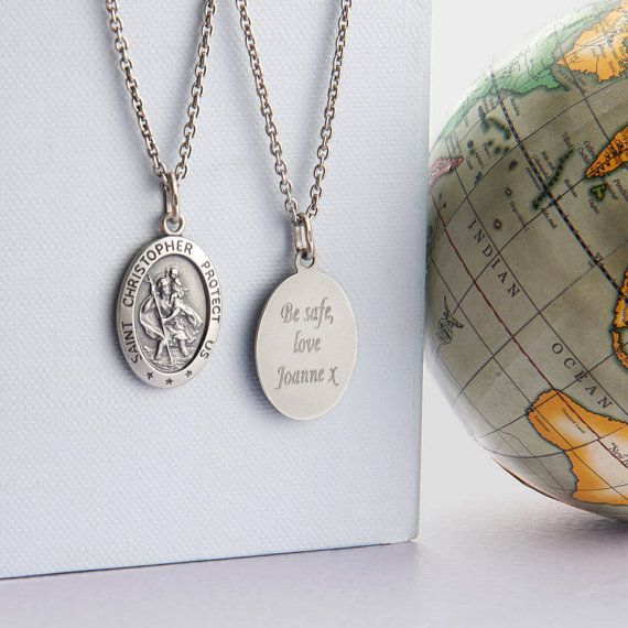 Personalised Men's St Christopher Silver by Hurleyburleygifts