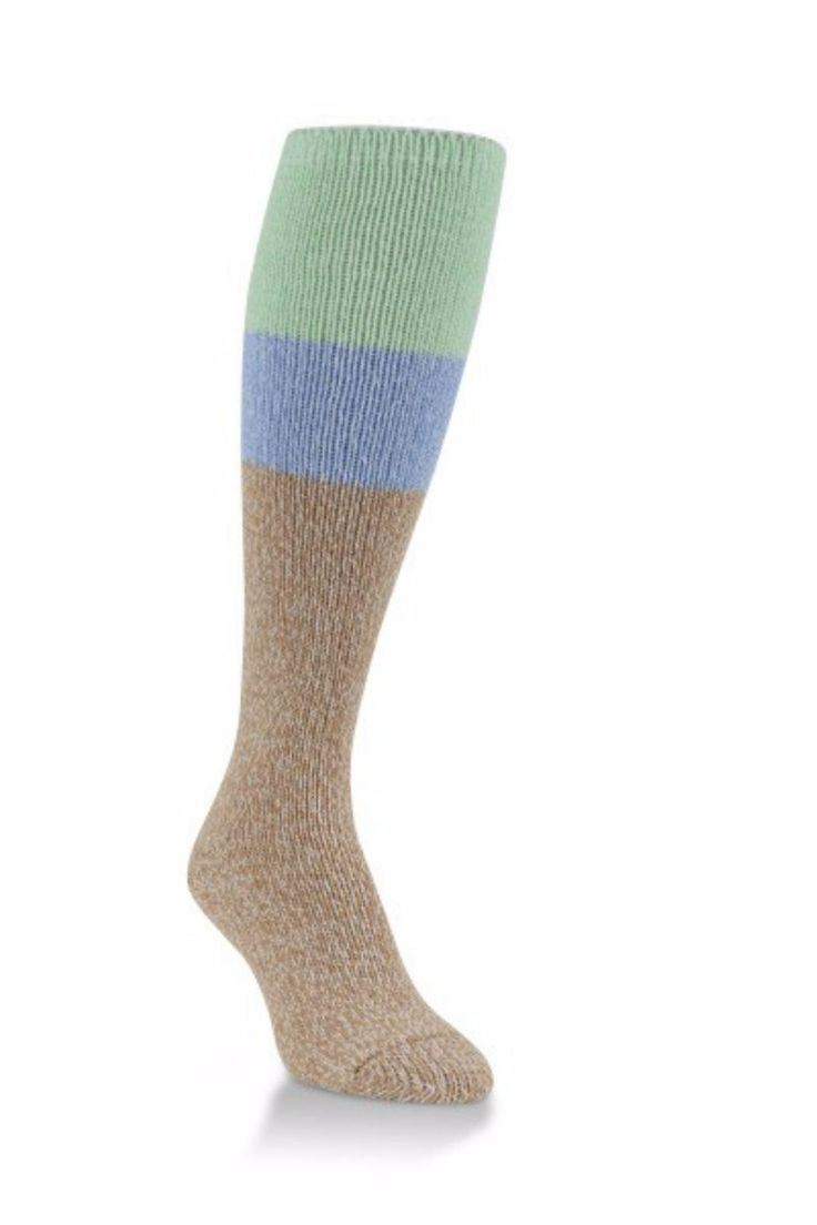 """There's no such thing as too many warm socks! Made with ultra-soft, textured yarns, these knee-hi socks """"hug"""" your feet without binding, while offering the ragg wool look without the itch. Low-profile toe seams help prevent irritation to your toes and enhance overall foot comfort. Women's shoe size 6-10.   World's Softest Socks by Crescent Sock Company. Accessories - Socks Minnesota"""