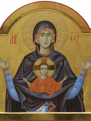 Madre di Dio Platytera; 43 x 47 cm, Collezione Privata, Roma, 2012