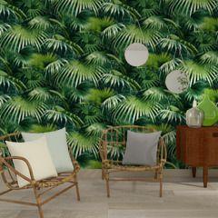 Partez à l'aventure avec cet intissé TROPICAL FOREST !   Il vous plonge au coeur d'une jungle luxuriante, où une multitude de feuilles de palmier s'entremêlent pour donner de la profondeur et du caractère à votre intérieur. Entre originalité et exotisme, il s'inscrit dans un style tropical ultra tendance !