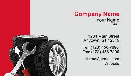 tire business cards cars car industry business card templates