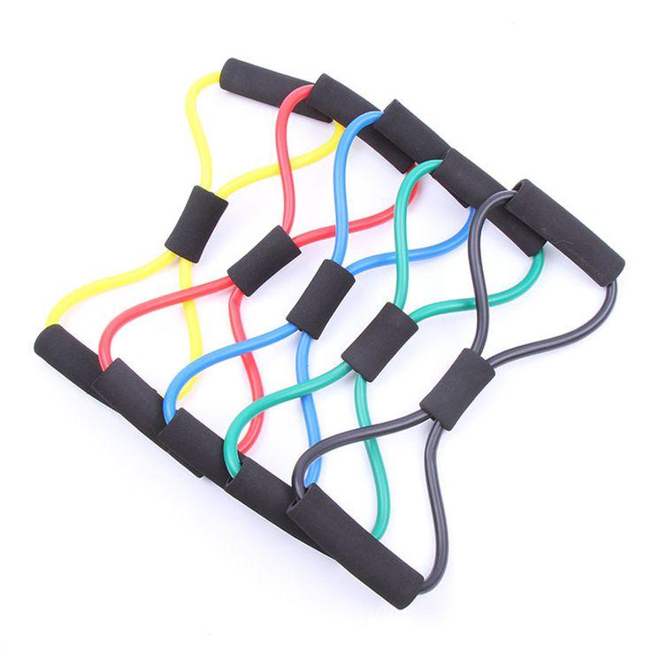 Yeni kadın gym crossfit elastik spor direnç bandı genişletici egzersiz egzersiz pilates yoga streç tüp halat spor ekipmanları