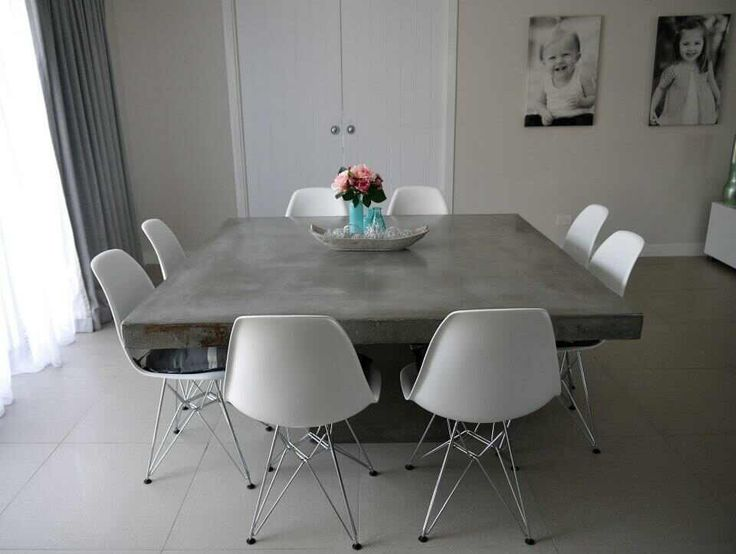 DIY Dining Tables To Dine In Style Diy Dining Table Concrete - Concrete dining table and chairs