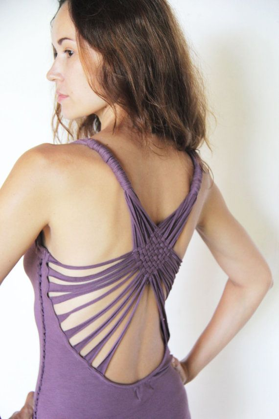 mini YHI warrior dress with open back and braided by SOAgypsy