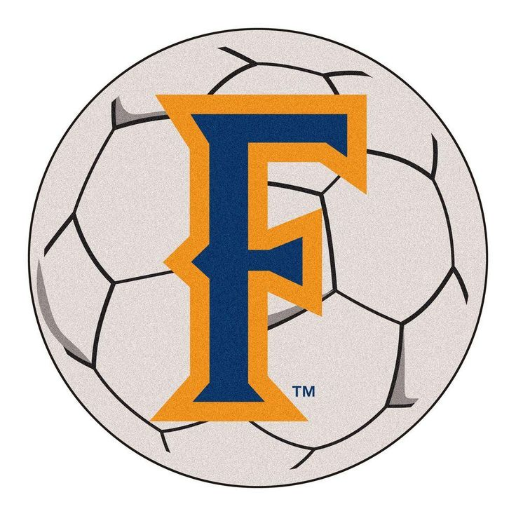 Ncaa California State University Fullerton Cream (Ivory) 2 ft. 3 in. x 2 ft. 3 in. Round Accent Rug