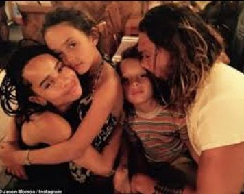 Jason Momoa and wife Lisa Monet and children