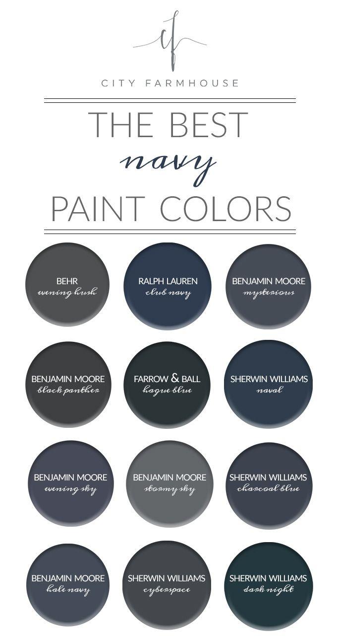 City Farmhouse - The Best Navy Paint Colors