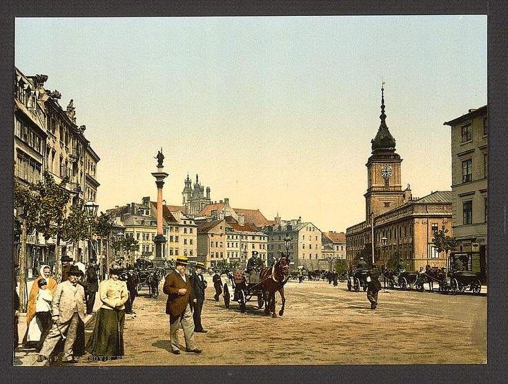 Faubourg de Cracow, Warsaw, Poland. 1900. Source: U.S. Library of Congress.
