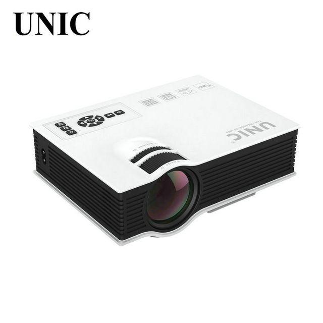 Оригинал UNIC UC40 Домашний Кинотеатр HDMI USB LCD HD LED Мини-Проектор, 800X480 Пикселей, Совершенное Видео игры Кино Proyector Бимер