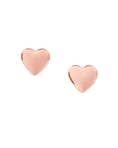 HARLY | Heart stud earrings - Rose Gold | Jewellery | Ted Baker