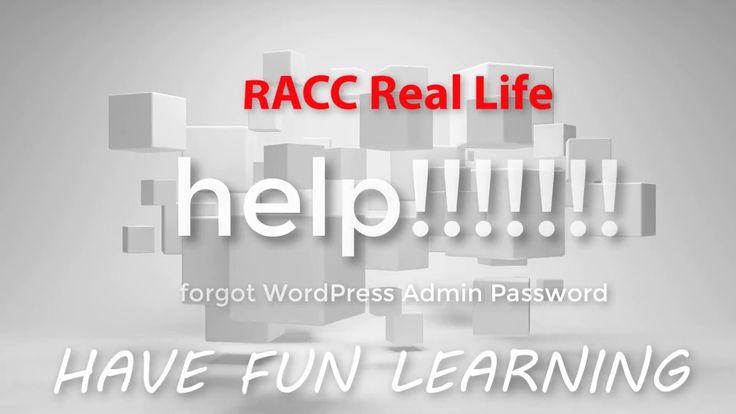 nice help!!!! - Forgot WordPress Admin Password