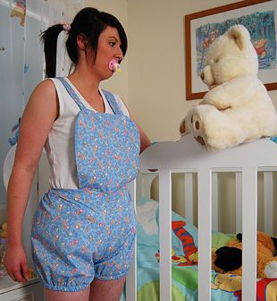 Pale blue romper 1 adult baby clothing style pinterest rompers products and adult bibs - Baby gear for small spaces style ...