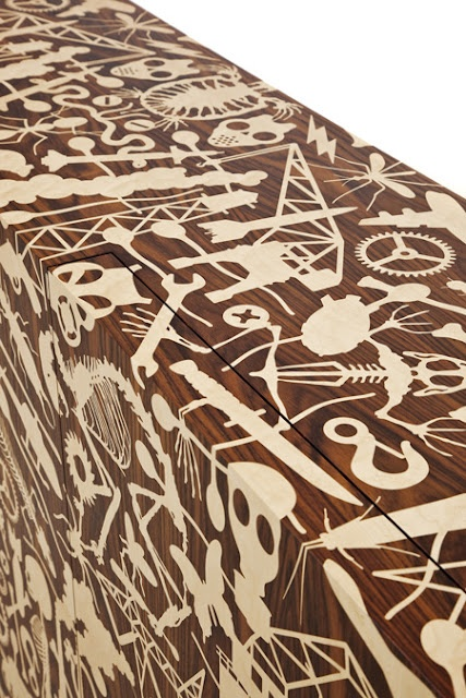 Marquetry furniture by Studio Job