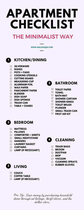 New Apartment Checklist. going on an apartment tour? take this ...