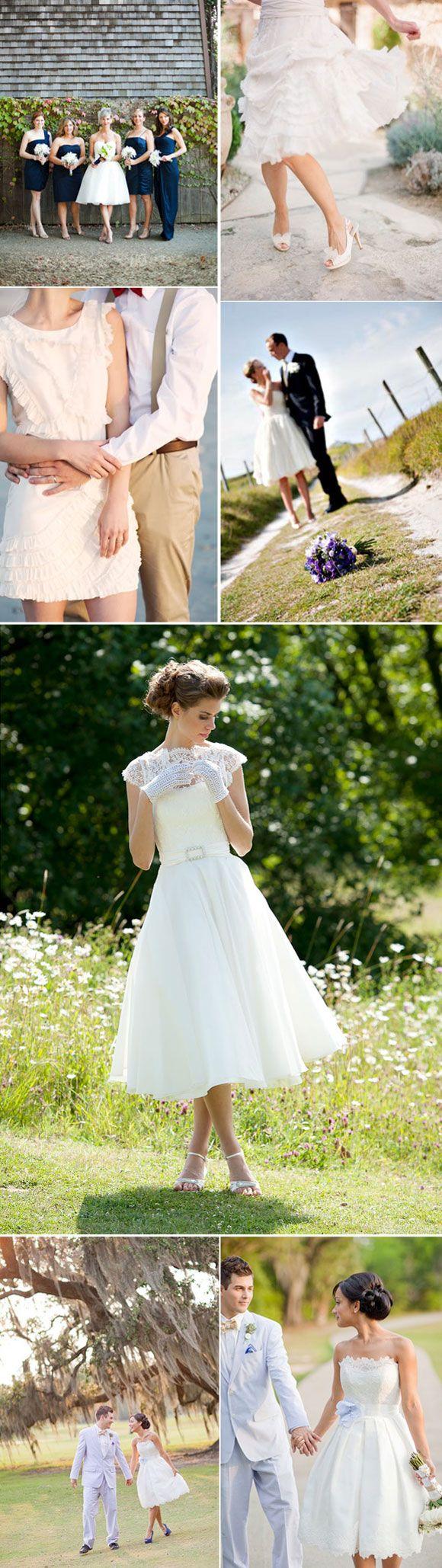 Vestidos de novia cortos para bodas en el campo