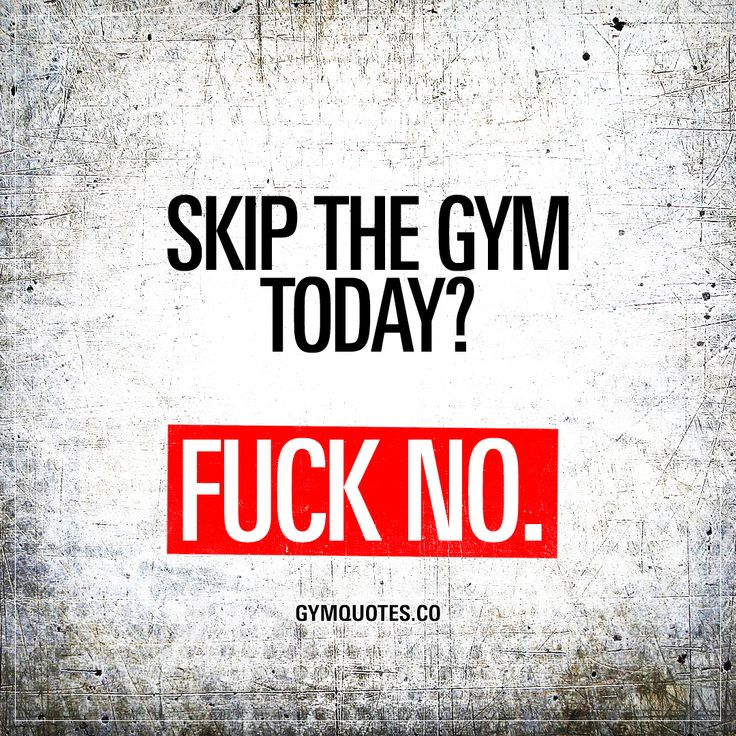 Skip the gym today? Fuck no. #nuffsaid #trainharderthanme #nolimits #gymaddict #gymquotes #gymmotivation