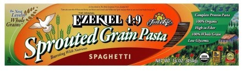 Food For Life Ezekiel 4:9 Organic Sprouted Grain Pasta, Spaghetti, 16-Ounce Boxes (Pack of 6) by Food For Life, http://www.amazon.com/dp/B000LKV4LS/ref=cm_sw_r_pi_dp_WHIVqb0BN1QMA