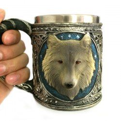 SHARE & Get it FREE | 450ml Personalized Double Wall Stainless Steel 3D Wolf Head MugFor Fashion Lovers only:80,000+ Items • FREE SHIPPING Join Twinkledeals: Get YOUR $50 NOW!