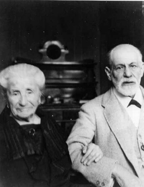 Sigmund Freud with his mother