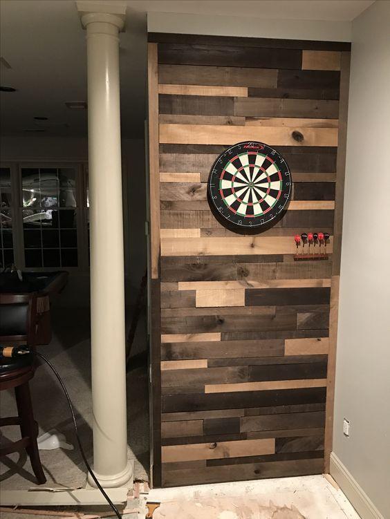 Pallet wall dartboard, mancave, pallet wall, diy, beer, darts