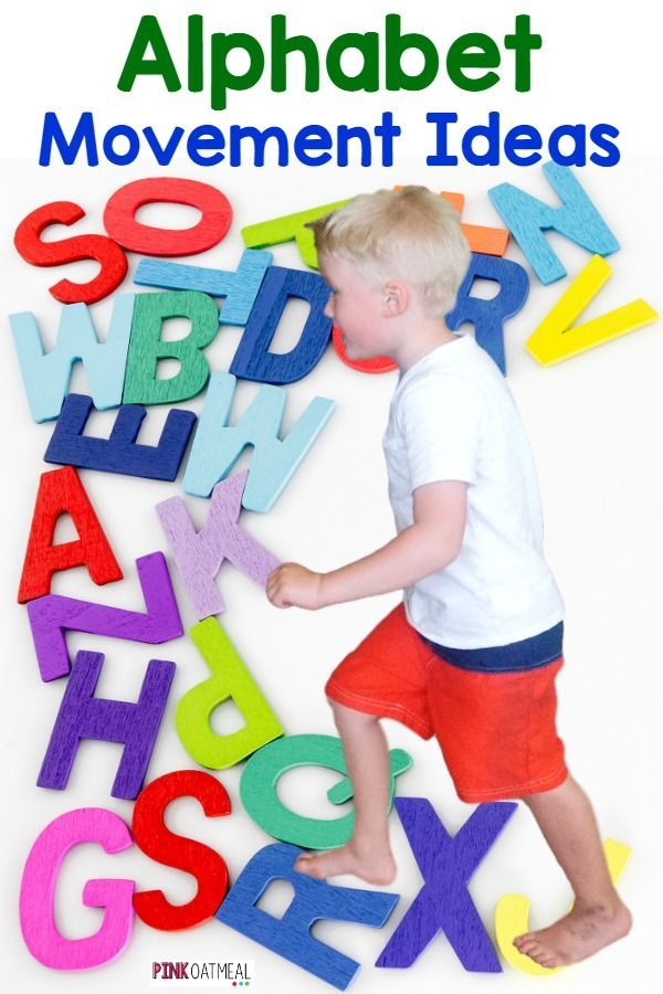 Fun ideas on how to incorporate the alphabet with movement. Love this for kinesthetic learners!