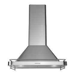 "DÅTID exhaust hood, Stainless steel Depth: 18 7/8 "" Min. height: 31 3/8 "" Max. height: 44 3/4 "" Depth: 47.9 cm Min. height: 79.7 cm Max. height: 113.7 cm"