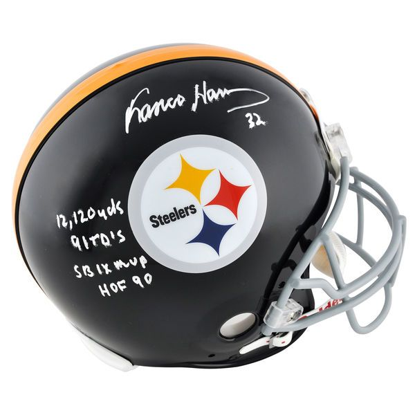Franco Harris Pittsburgh Steelers Fanatics Authentic Autographed Riddell Pro-Line Authentic Helmet with Multiple Inscriptions - $749.99