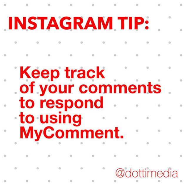 #GetInstaSavvy Tip: If you're posting regularly it can be hard to keep up with what comments you have and haven't responded to. MyCommenter app is a great tool to help you keep track of everything