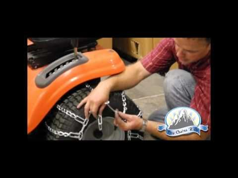 How to Install Lawn Tractor Tire Chains - YouTube