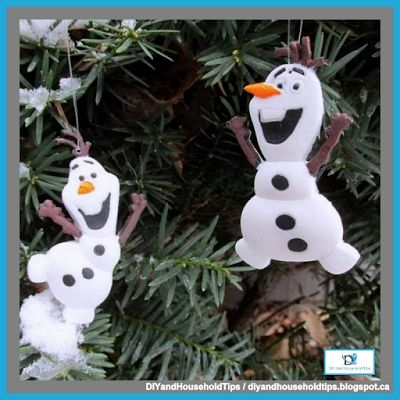 DIY And Household Tips: DIY Olaf Frozen Resin Ornaments