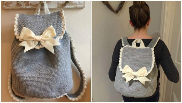 Crochet Backpack by Kate Eastwood on the LoveCrochet blog