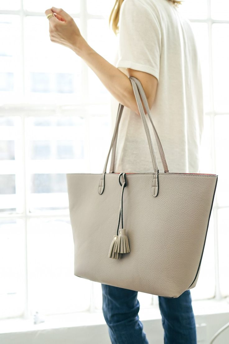 The SoleSociety reversible Campbell tote is the perfect day to night bag.