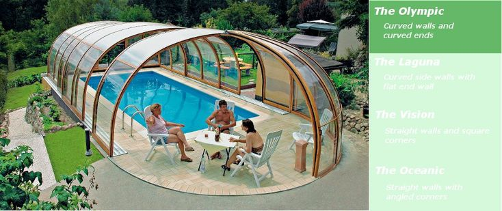 Swimming Pool Enclosures | Telescopic Retractable Buildings over swimming pools