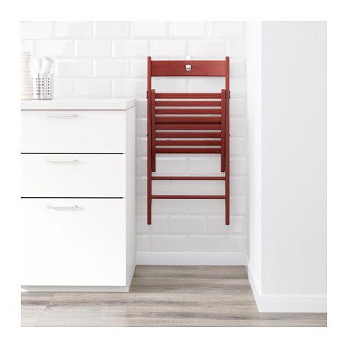 TERJE Folding chair, red