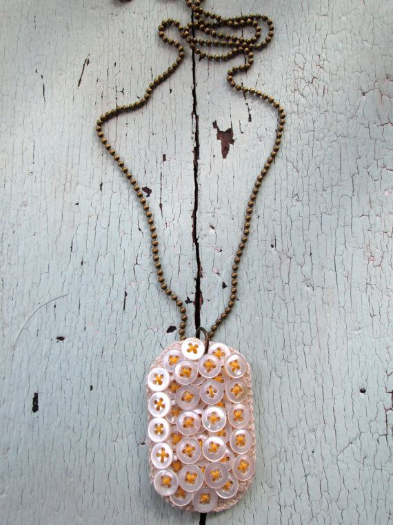 Pastel Dog Tag Necklaces by lesliejanson on Etsy
