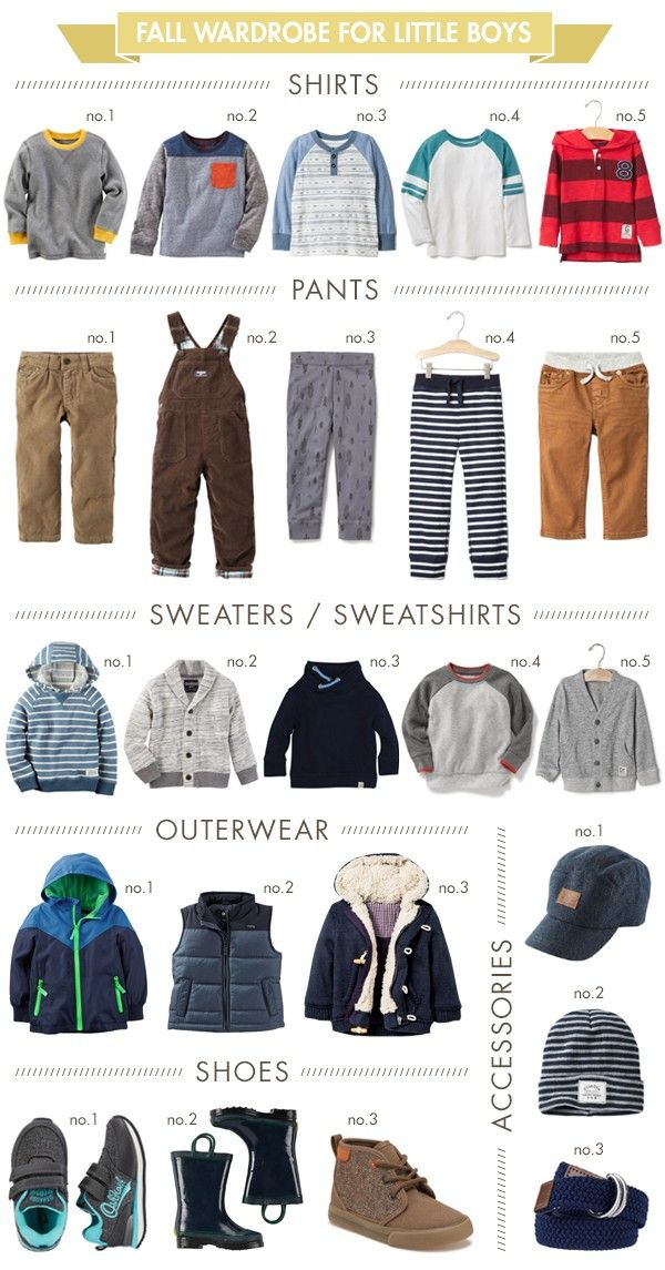 Fall wardrobe for little boys - everything you need for the perfect set of…
