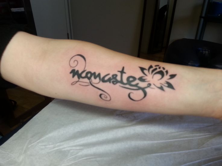 Namaste and Lilly tattoo - Kya Dubois Sink N Ink Tattoos ...
