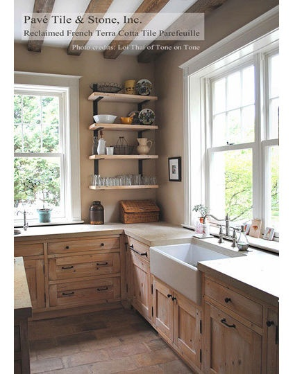 I really think these types of sinks look better - especially since the drawers in front of sinks are faux.