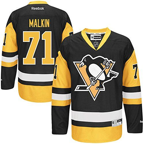NHL Pittsburgh Penguins 71 Evgeni Malkin Mens Premier Jersey Black color Size XXXL *** Check out this great product.