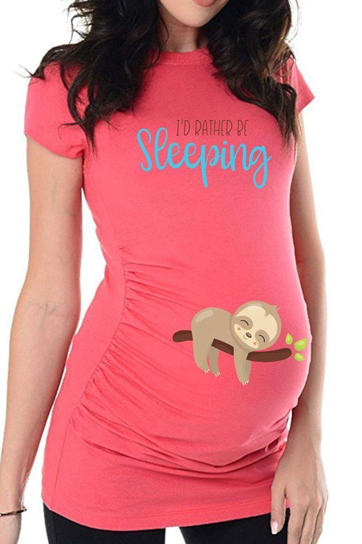 Umstandsmode Schwangerschafts-Mutterschaft/_Sweatshirt mit Süßen Babydruck MMC