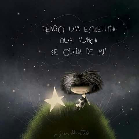 I think this translates to: I have a little star that never forgets me - - - puro pelo - Buscar con Google