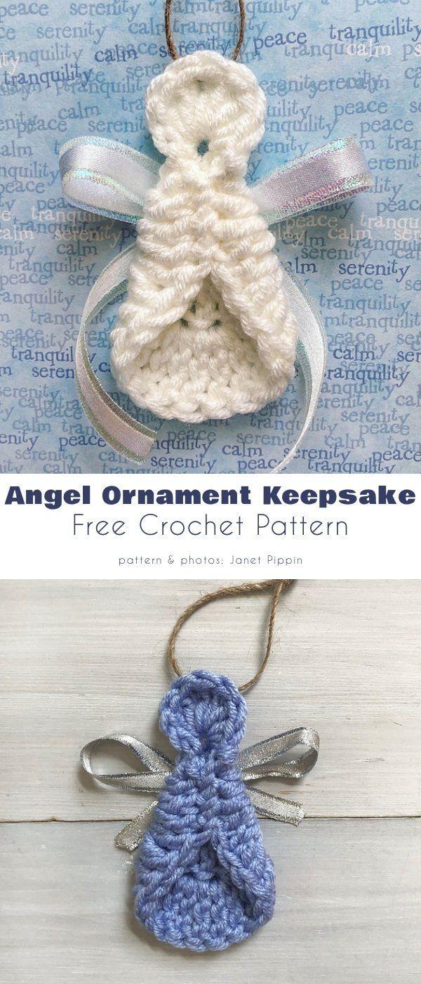 The Easiest Angel Ornament Free Crochet Patterns Crochet Ornament Patterns Crochet Ornaments Free Pattern Angel Crochet Pattern Free