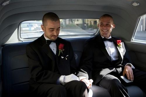 Car ride photo:  Frank and Joe Capley-Alfano,   June 17, 2008 California: June 17, Wedding Clothing, Gay Wedding, 2008 California, Fat Gay, California Supreme, Gay Couples, Joe Capley Alfano
