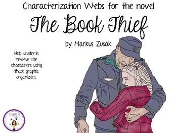 Ten characterization webs for the novel The Book Thief by Markus Zusak
