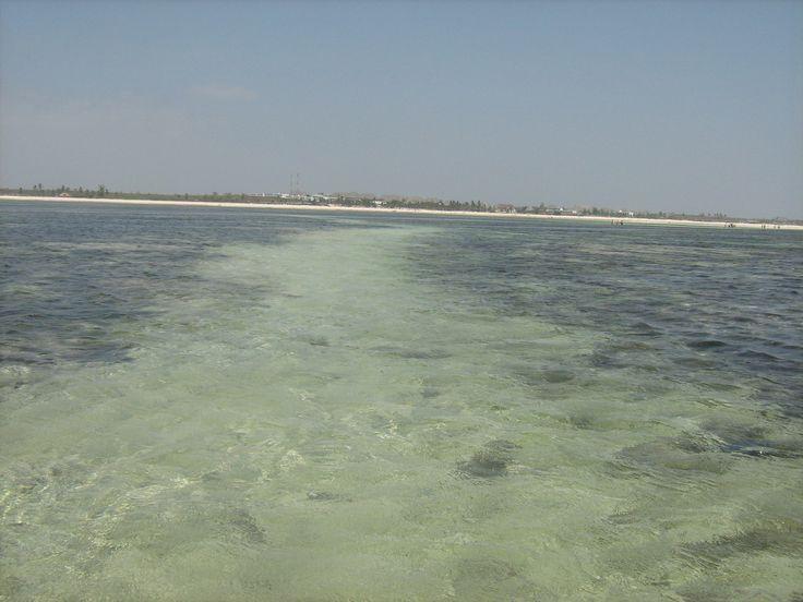 lingua di sabbia nel mare