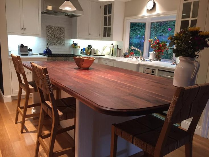 Wide Plank Walnut Countertop by Armani Fine Woodworking