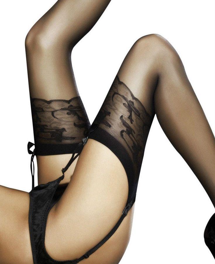 Bas Sexy pour porte jarretelle Femme Jordana Fiore ♡ 20 Den